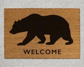 Bear Doormat, Bear Door Mat, Bear Welcome Mat, Doormat, Door Mat, Animal Doormat, Animal Door Mat, Welcome Mat, Bear Silhouette, Bear Mat