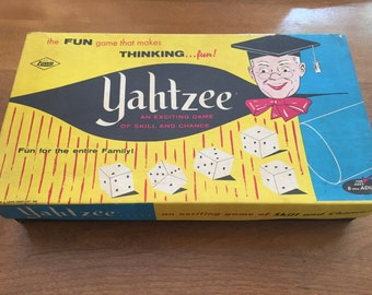 Shipping Included - 1956 Yahtzee Game- Vintage- FREE SHIPPING