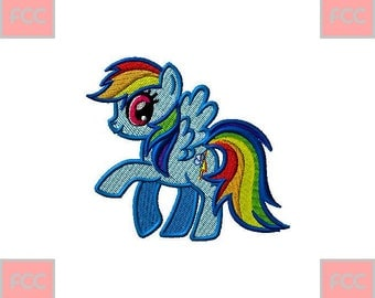 My Little Pony Full Stiches Machine EmbroideryDesign in 2 sizes **INSTANT DOWNLOAD**