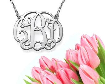 Classic Monogram Necklace (silver)