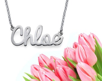 Cursive Name Necklace (silver)