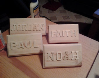 Table Top  Name Plaques