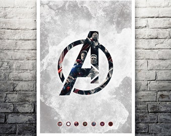 Avengers Age Of Ultron movie poster print
