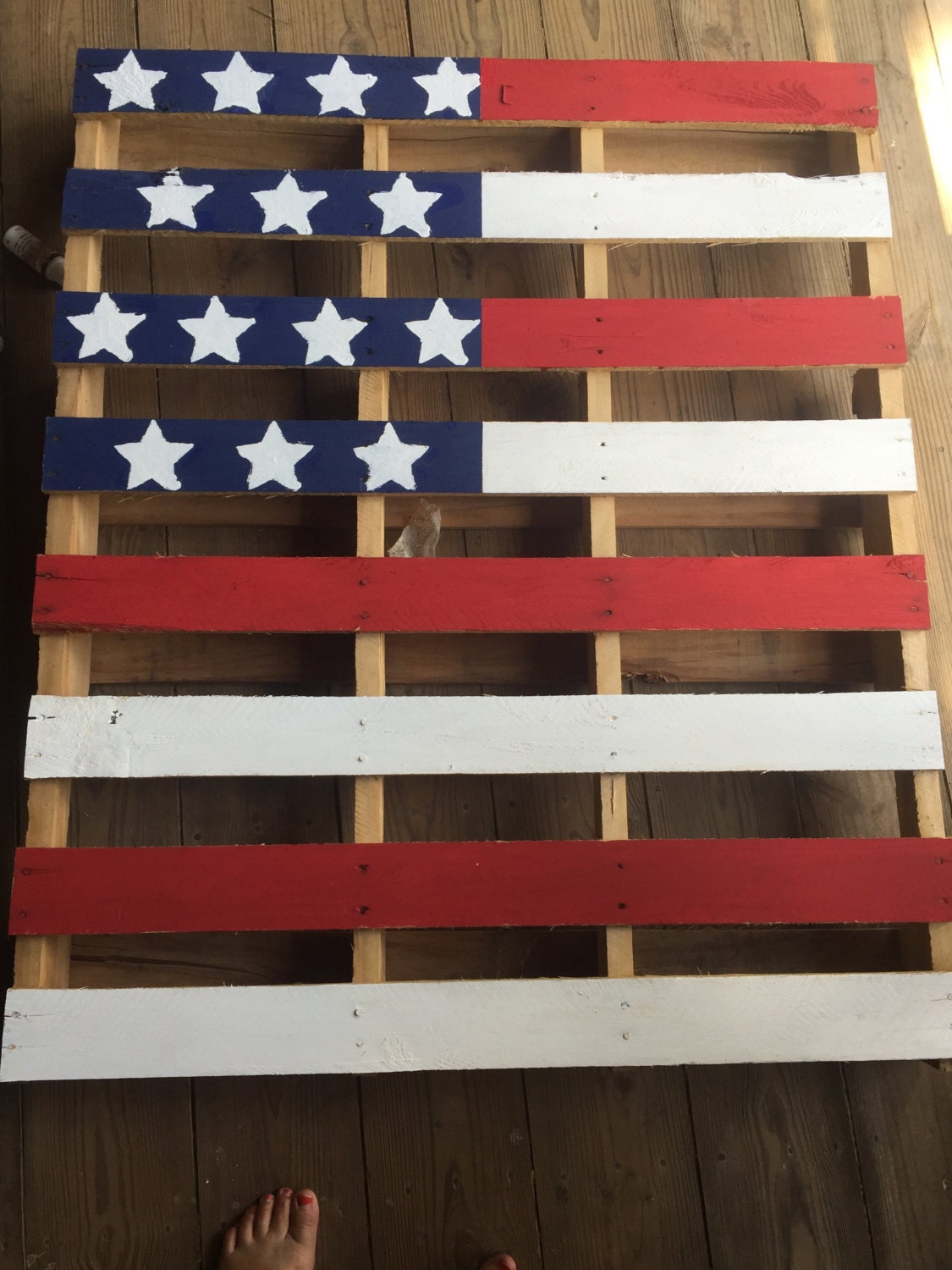 American Flag Wood Pallet by BryantWoodWorks on Etsy