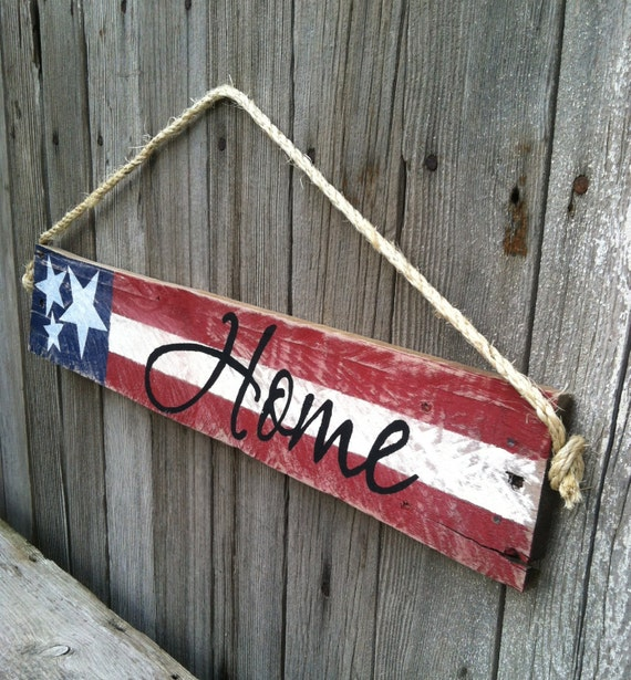 Items similar to us flag sign patriotic decor stars for American flag decoration ideas
