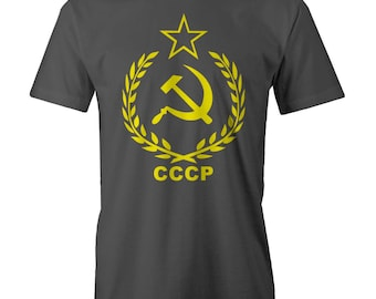 CCCP USSR Soviet Russian T-shirt Communist Red Army Stalin