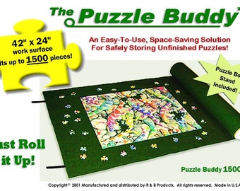 "Jigsaw Puzzle Roll Up Mat Puzzle Storage Accessory - Size 42"" x 24"" - NEW!"