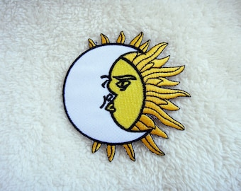 Moon over Sun Applique Iron on Patch
