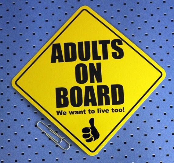 Adults On Board Bumper Sticker