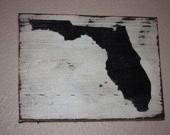 Rustic Florida wall or shelf decor
