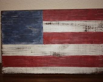 Rustic Wood American Flag- large