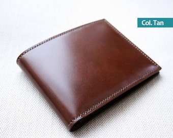 Shell Cordovan Leather Men's Wallet / Billfold - 100% handmade