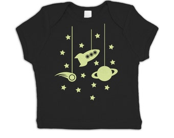 Hanging In Space (Glow In The Dark) baby t-shirt