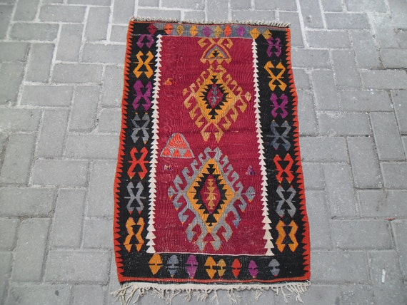 rugs kilim rug old rug used rug rugs rugs outdoor by etsyozge