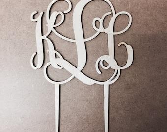 Monogram Cake Topper - Wedding Cake Topper - Wooden Caketopper - wood - monograms - wedding cake