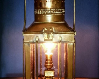 Vintage Nautical copper and brass maritime steampunk lantern.