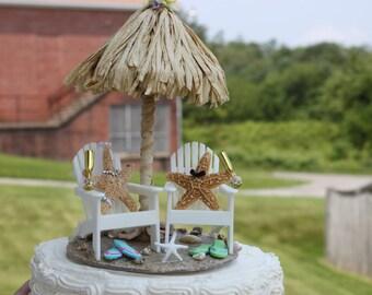 Starfish Bride and Groom Cake Topper/ Beach Wedding/ Tropical Wedding/ Destination Wedding