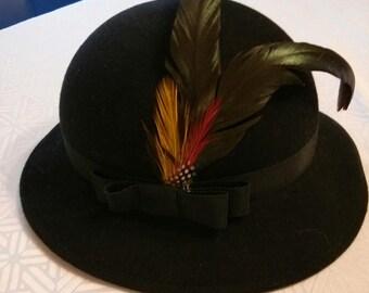 Vintage Geo W. Bollman & Co. Peachfelt 100% wool hat