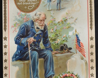 Decoration Day Postcard / Memorial Day Postcard / Tuck Postcard / Raphael Tuck Postcard / Patriotic Postcard
