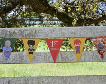Personalized Photo Pennant Lines / Custom Pennant Lines / Banner
