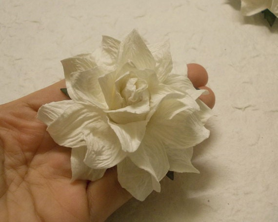 4 Paper Flowers Size 3 Mulberry Paper craft flower