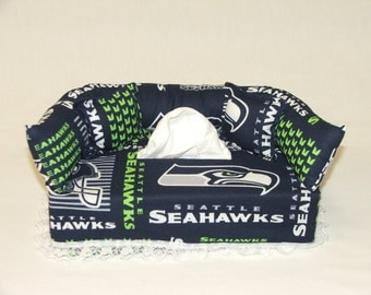 Seattle Seahawks NFL Licensed fabric tissue box cover.