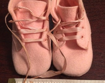 Vintage Baby Girl Pink Shoes