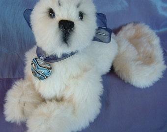 Snowpuff, Seal cub, artist pattern, Bear, Alaine Ferreira, Bearflair , Ooak bear.