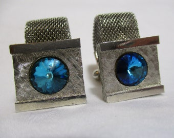 Beautiful Blue Stone Cuff Links