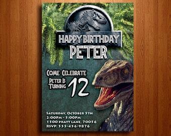 Jurassic invitation Etsy