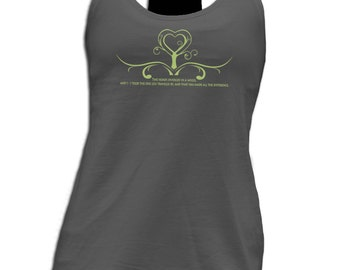 One Less Traveled Terry Racerback Tank