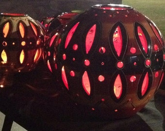 Lrg Handmade Lanterns,30cmx30cm approx They come in a range of colours and are amazing at night