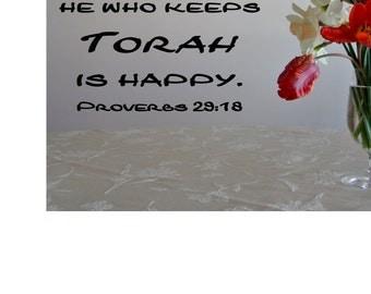 He who keeps Torah Wall Decal