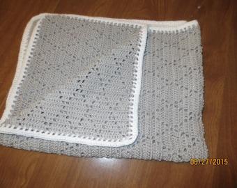 Soft, delicate handmade baby blanket