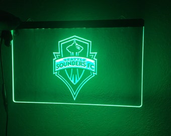 Seattle Sounders  sign, Sounders  light, Sounders fc lite