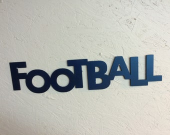 "Football 23"" x 4"" in metallic Blue"