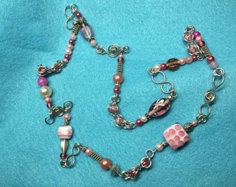 Pink Bead Endless Necklace