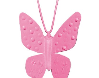 Bright Pink Butterfly Magnets SET OF THREE MG2204