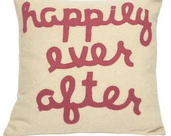 Happily Ever After Pillow Pink P911