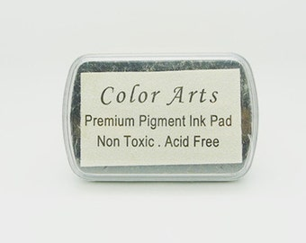 White Stamp Ink Pad - DIY Oil Based Print Craft Pad For Rubber Stamps Paper Wood - 9cmx6cm