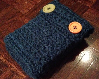 Petroleum Green Crochet Bible Sleeve Cover