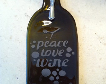 FREE SHIPPING ! Personalized Repurposed Wine bottle servers .