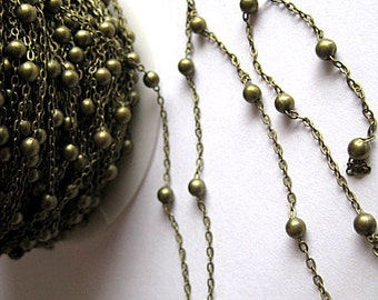 High Quality Brass Cross Chain with Beads