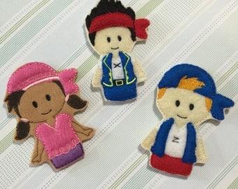 Pirate Finger Puppets Set