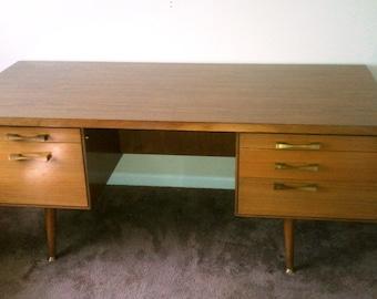 Mid Century Executive Desk w/ cabinet