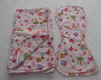 Blizzard cotton flannel baby blanket with matching burp cloth multi-color for baby girl