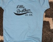 Little Brother Shirt, Little Brother Baseball Shirt, Brother Sibling Shirts- order with or without year