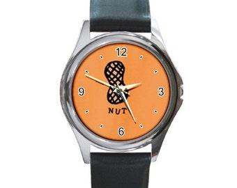 Nut   Round Metal Watch