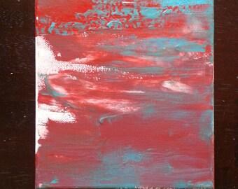Acrylic Painting on 8x10 Canvas - Sunburst