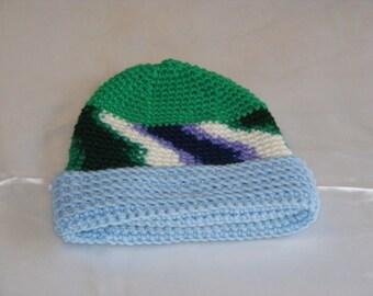 Crochet Mixed Color Hat
